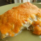 Court's Creamy and Quick Burritos - This recipe makes 6 beef burritos topped with a creamy and Cheddar cheese and sour cream sauce.