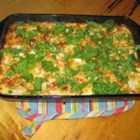 Chili Relleno Casserole - Canned green chiles and lots of shredded cheese bake up into a meltingly good, easy dinner.