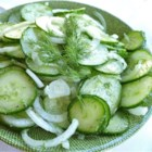 Hungarian Cucumber Salad - Cucumber, onion, and dill get a quick dressing in vinegar and oil for a simple, Hungarian-inspired cucumber salad.