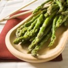 The Best Steamed Asparagus - This is the best way to cook asparagus to enjoy it's flavor.  It comes out absolutely perfect. For the wine, we recommend Pinot Grigio.