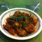 Little Lamb Meatballs in a Spicy Eggplant Tomato Sauce - Try this delicious lamb meatball with spicy and sweet tomato sauce recipe for a flavorful dish that takes the traditional lamb and tomato sauce combination to a completely new level.