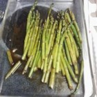 Tasty Barbecued Asparagus - These grilled asparagus are marinated and brushed with sesame oil and soy sauce for the perfect addition to any meal.