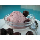 Cherry Ice Cream - This eggless cherry-almond ice cream uses cherry juice concentrate for a deep magenta color!