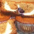Blueberry Cream Cheese Muffins - Whole wheat, honey, blueberries, and a cream cheese filling make these muffins special.