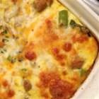 Overnight Asparagus Mushroom Strata - Perfect for a special breakfast or brunch, this make-ahead eggy casserole combines toasted English muffins with layers of cheese, mushrooms, and asparagus. Refrigerate overnight, bake the next day, and keep your morning clear for celebrating instead of cooking.