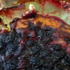 Baking Mix Blackberry Cobbler - Use boxed baking mix to make this easy cobbler!