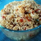 Brown Spanish Rice - Brown rice adds a new twist on traditional Spanish rice dish. Tomatoes with green chilies add an extra spicy kick to this dish.