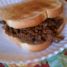 Loosemeat Sandwiches I - Ground beef and barbecue-style seasonings make a quickly prepared sauce to serve on hamburger buns or other rolls.