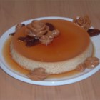 Caramel-Glazed Flan - More egg whites than yolks and low-fat sweetened condensed milk are the signature features of this altered flan.