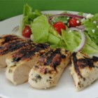 Spicy Grilled Chicken - This is a slightly hot lime juice based marinade that adds wonderful flavors to grilled chicken. The breasts marinate in the fridge for about an hour and are grilled until moist and crispy brown.