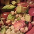 White Bean, Tomato, and Avocado Salad - Cannellini beans, avocado, and grape tomatoes are tossed with lemon juice and olive oil in this simple and tasty salad.