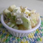 Morgan's Waldorf Salad - This crisp and refreshing Waldorf salad has three varieties of apple, a pear, walnuts, and pecans and is perfect for hot summer days.