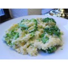 Cheesy Cauliflower Couscous - Cauliflower florets are baked with couscous and cheese in a quick, tasty side dish.