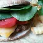 Grilled Lamb Burgers - These lamb burgers are seasoned with oregano, red pepper flakes, mint, and sherry.