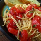 Lovely Linguine - This linguine is served with a buttery thyme and roasted red pepper sauce. It is delicious.