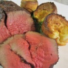 Slow Roasted BBQ Beef Roast - Tender, juicy roast beef - cooked outdoors on the rotisserie!