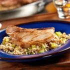 Pork Chops and French Onion Rice - Only one skillet is needed to make this scrumptious pork dish....the rice actually cooks right in the skillet with the rest of the ingredients.  It couldn't be easier.