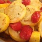 Garlic Roasted Summer Squash