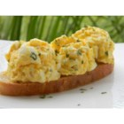Easy Egg Salad - Hard-cooked eggs and fat-free yogurt are seasoned with parsley, onion powder, paprika, and salt in this easy egg salad recipe.