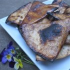 Praline Cinnamon Tortilla Chips - Flour tortilla pieces are dipped in canola oil and sugar seasoned with chili powder and cinnamon before being broiled until crisp to make delicious chips with the taste of crispy pralines. They're a great snack for Cinco de Mayo.