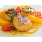 Seared Scallops with Jalapeno Vinaigrette - This versatile jalapeno vinaigrette pairs beautifully with oranges and seared scallops.
