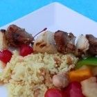 Summer Lamb Kabobs - Lamb and garlic go so well together. In this recipe the combination of herbs and spices complement the meat and make an awesome treat for friends and family.