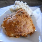 Oven-Fried Chicken - The many extras in this deluxe batter--pecans, buttermilk biscuit mix, evaporated milk, herbs--create a perfect-for-company chicken bake.