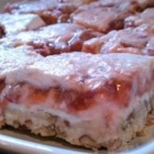 Strawberry-Rhubarb and Cream Bars