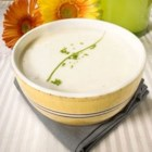 Classic Vichyssoise - A delicious leek and potato soup enriched with a little fresh cream. Serve warm or cold.