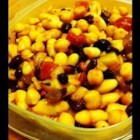 Easy Bean Salad - An easy, delicious cold bean salad. A big hit at barbeques and football parties! Use any 3-bean combination. Red beans are also really nice in this salad!