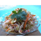 Amish Coleslaw - A lovely coleslaw recipe for those who prefer slaw without mayonnaise.