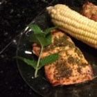 Minted Salmon - This quickly marinated minty salmon is very easy to make and gourmet-delicious. It's perfect when grilled over a hardwood fire, but can easily be cooked in a hot skillet.