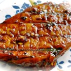 Honey-Soy Pork Chops from the Bradshaw Family - Honey, lemon juice, and soy sauce make a tasty and tangy marinade and basting sauce for grilled pork chops.