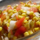 Summer Anytime Crisp Corn Salad - This bright and colorful salad is perfect for picnics on hot days because it's easy to make and has no mayo.