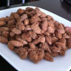 Candied Almonds - This recipe requires only sugar, cinnamon, and water to make a sweet coating for almonds.