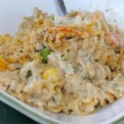 Chicken and Pasta Casserole with Mixed Vegetables - This creamy chicken and pasta casserole is easy to make and will please the whole family.