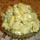 Healthier Old Fashioned Potato Salad - This healthier version of old fashioned potato salad uses egg whites, low-fat mayonnaise, and increases the amount of vegetables, making for a delicious and filling side dish.
