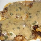 "4 Star Chicken ""Marsala"" ( with Zinfindel) - Chicken breast is topped with mozzarella cheese and capers and served with a creamy white wine sauce in this rich and tasty meal. Warm French bread is perfect for soaking up all that yummy sauce."