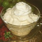 Bonnie's Fruit Dip - Sweet and creamy, this dip is great with any fruit! Try strawberries, pineapple, grapes, cantaloupe or apples.