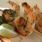 'But Why Is The Rum Gone?' Grilled Shrimp - Shrimp is marinated a mixture with lime juice, mint, shallot, and rum in this grilled shrimp recipe.
