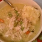 Beginner Chicken and Dumplings - The hearty flavors of chicken and dumplings come together quickly in this recipe using boneless chicken breast and thigh meat. Baking mix dumplings quickly add the finishing touch.