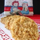 Raggedy Ann Cookies - A soft chewy cookie that is good in picnic lunches, afternoon tea or served with a tall cold glass of lemonade.