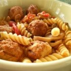 Photo of: Meatball Noodle Onion Stoup - Recipe of the Day