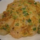 Shrimp Egg Foo Young - The best recipes are always found on old, tattered, sticky recipe cards, and this one is a simple, beloved Chinese restaurant-style egg dish, made with only a few ingredients. It's quick, tasty, filling, and cheap.