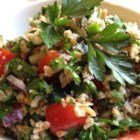 Veggie Bulgur Salad (Kisir) - Tender cooked onions and tangy pomegranate molasses make this bulgur salad a standout.