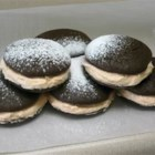 Whoopie Pies VII - Chocolate cookie sandwiches with a fluffy vanilla filling.