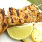 Big M's Barbadian Chicken Skewers - Rum, molasses, ginger, and allspice mingle in a flavorful marinade and basting sauce for grilled chicken.
