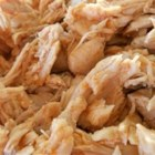 Chicken Taco Filling - Slow-cooked chicken breasts need only chicken broth and taco seasoning to make a mean taco filling.