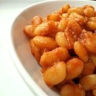 Vegan Baked Beans - There is no meat in this hearty side dish, just the great sweet and tangy flavors of delicious baked beans.