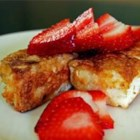 Madison's Angel Food Cake French Toast - This french toast is light, fluffy, and sweet because you're using angel food cake instead of bread.